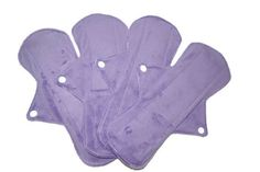 Set of 4 pads 11 Long Minky Menstrual Sanitary by JuliansBoutique
