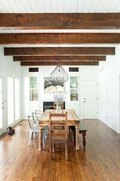 So Long, Popcorn Ceilings: 8 Transformative Overhead Architectural Hacks | your rental apartment or newly-built home didn't come with coffered ceilings or pressed tin tiles? Set your sights above that unsightly popcorn or drop ceilings you've been dealt. All eight of these ceiling hacks will lend architectural interest to a boring room—whether you channel intricate European plasterwork or rustic exposed wood beams is entirely up to you.