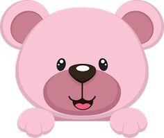 Amm Artes curso de personalizados : ursinha rosa e marrom