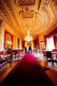 Inside Windsor Castle England - so beautiful!