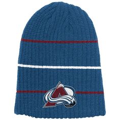ac88c2e4617 Colorado Avalanche Reebok Face-Off Heathered Gray Cuffed Knit Hat - Heather  Gray  ColoradoAvalanche