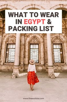 Trying to figure out what to wear in Egypt? This complete Egypt packing list has 10 important things you might be forgetting to pack. Egypt Travel Tips | What to wear in Egypt | What to wear in Cairo | Egypt packing list women | Egypt packing guide | Egypt outfit | Best Shoes to wear in Egypt  #egypt #cairotravel #packingguide  #traveltips