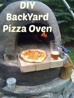 DIY-Backyard-pizza-oven make backyard also use fall.I like this because when you have family functions and friends over what better than a lot of pizza making.