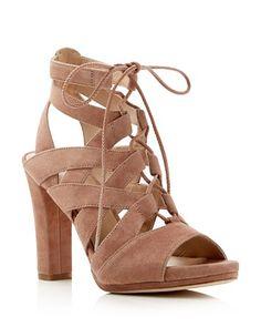 $Via Spiga Collette High Heel Lace Up Sandals - Bloomingdale's