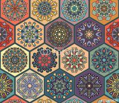Arabski kolorowy wzór