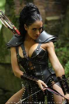 Woman archer. Love the look in her eyes.
