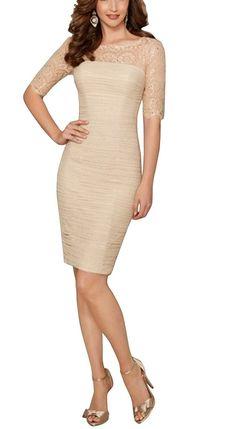 65bdc8bd00c Dora Bridal Women´s Sleeves Knee Length Chiffon Mother Dresses 2016 at  Amazon Women s Clothing store