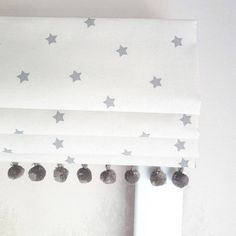 Mini Grey Stars Blackout Lined Roman Blind - Made to Measure,Mini Grey Stars Blackout Lined Roman Blind Made to Measure Curtain monitor or curtain rod? The most common kinds of fastening for curtains are rods an.