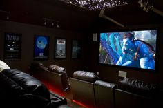 Home theater design - Discover home design ideas, furniture, browse photos and plan projects at HG Design Ideas - connecting homeowners with the latest trends in home design & remodeling Home Design, Attic Design, Home Theater Design, Design Ideas, Home Cinema Room, At Home Movie Theater, Home Theater Rooms, Attic Theater, Attic Library