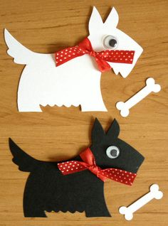 8 large Scotty Scottie Westie dog die cuts with bones for cards toppers cardmaking scrapbooking craft project on Etsy, £2.49