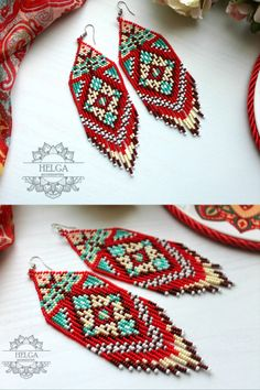 Beaded Earrings Native, Native Beadwork, Native American Beadwork, Tribal Earrings, Seed Bead Earrings, Beaded Jewelry, Seed Beads, Diy Jewelry, Jewelry Making