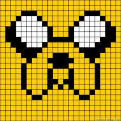 Jake Dog Adbenture Time  perler bead pattern