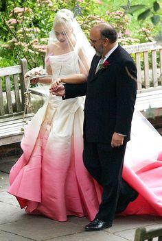Gwen Stefani's pink tinged Galliano wedding dress