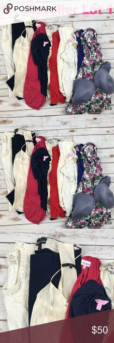 Reseller Lot 1 Lot of clothing for resellers. Includes 12 items. J. Crew Factory Top, j. Crew pants, tibi tank, LuLaRoe Top, Lilly Pulitzer top, Anthro Top, hi-line Madewell Tank, Deletta Anthro Top, Lilly Pulitzer halter, Lucy tank, Lilly kids Top, VS Bra. Items are in excellent, good and used condition. No major flaws. No bundling, no offers. Sold AS-IS. Other
