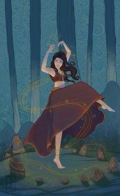 Incantation by LauraTolton on DeviantArt Fantasy Inspiration, Character Inspiration, Character Art, Illustration Art, Illustrations, Witch Art, Art Inspo, Art Reference, Amazing Art