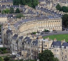 Royal Crescent in Bath, classic #architecture - definitely deserving of #luxurykitchens