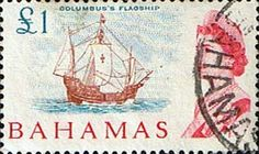 Postage Stamps of Bahamas 1965 SG 261 Columbuss Flagship Scott 261 Used Other Bahamas Stamps HERE