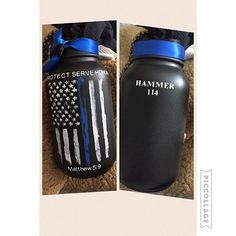 "52 Likes, 2 Comments - Gloria Nutis (@americanagloriana) on Instagram: ""A photo I received today from a very happy customer! She loved her thin blue line distressed flag…"""