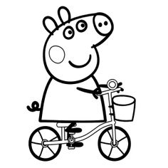 coloring page Peppa Pig on Kids-n-Fun. Coloring pages of Peppa Pig on Kids-n-Fun. More than coloring pages. At Kids-n-Fun you will always find the nicest coloring pages first! Peppa Pig Coloring Pages, Valentine Coloring Pages, Cartoon Coloring Pages, Coloring Pages To Print, Coloring For Kids, Printable Coloring Pages, Coloring Pages For Kids, Coloring Books, Colouring Sheets