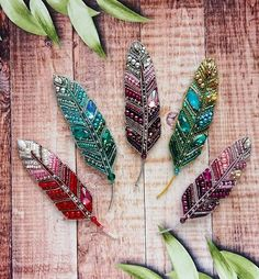 Flowers in jewelry resin - a very delicate and beautiful work from Stephanie Jones Bead Embroidery Jewelry, Beaded Embroidery, Beaded Jewelry, Embroidery Designs, Loom Beading, Beading Patterns, Beadwork Designs, Native American Beadwork, Beaded Brooch