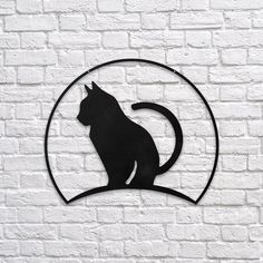 Cat - Metal Poster www.northshire.net #wall #metal #sign #decor #decoration #interior #interiors #minimal #quote #gift #walldecor #idea #ideas #cute #funny #cat #animal #pet