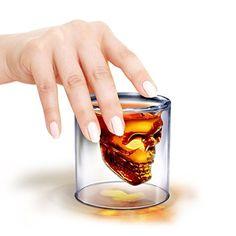 2x Verre Alcool « Tete Mort » Head Shot Skull Crystal Glass Crane ...