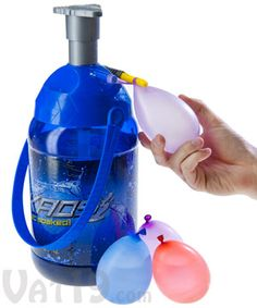 Tie-Not Battle Pump by Kaos: Portable Water Balloon Filling Station. Take about making easy to do with the kids for summer fun, and its portable. love it will get it for my lil man Water Balloon Filler, Water Balloon Launcher, Water Balloon Fight, Balloon Pump, Water Balloons, Water Fight, Cut The Ropes, Filling Station, Toy Boxes