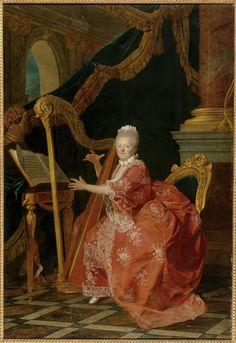Etienne Aubry, Portrait of Madame Victoire, 1773, Oil on canvas, 263 x 177 cm (Versailles)