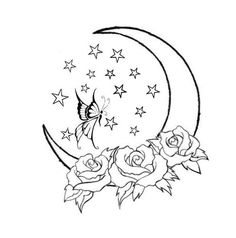 Sun and Moon tattoo designs by ~Mexican-Gypsy on deviantART Star Tattoos, New Tattoos, Tribal Tattoos, Cool Tattoos, Moon Star Tattoo, Tatoos, Tattoos Skull, Tattoo Drawings, Art Drawings