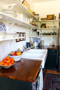 Love this kitchen!!! I think I'm just in love with wooden counters. But this is great.  Michele and Ryan's New Beginning