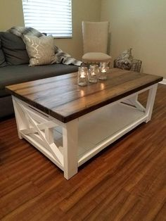 The modern farmhouse design isn't just for rooms. The farmhouse design totally reflects the complete style of the home and the family tradition also. This totally reflects the entire style… Farmhouse Style Coffee Table, Diy Coffee Table, Coffee Table Design, Farmhouse Design, Farmhouse Decor, Modern Farmhouse, Coffee Ideas, Farmhouse Ideas, Yuban Coffee