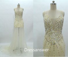 2014 Custom classic Aline prom dresses Beading by dressanswer, $178.36