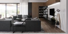 Projekt domu HomeKoncept-26 165,36 m2 - koszt budowy - EXTRADOM Bungalow, House Plans, Divider, Villa, Sofa, House Design, Modern, Furniture, Farm 2