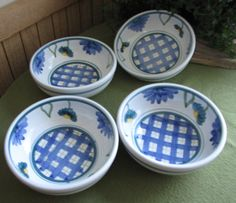 Caleco Arioso Pattern Cereal Bowls Hand Painted by LazyYVintage. http://etsy.com/shop/LazyYVintage
