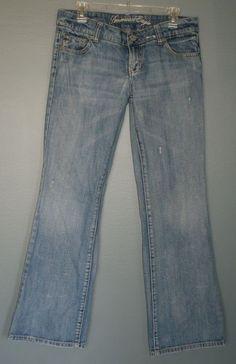 American Eagle Favorite Boyfriend jeans with distressing, women's size 8 regular #AmericanEagleOutfitters #Boyfriend