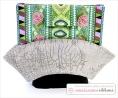 Ribbon Fold-over Wallet with Renaissance Ribbons
