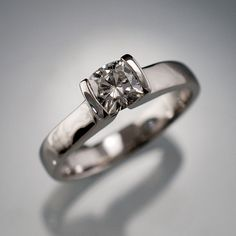 Cushion Cut Moissanite Ring Modified Tension by NodeformWeddings, $965.00 LOVE!