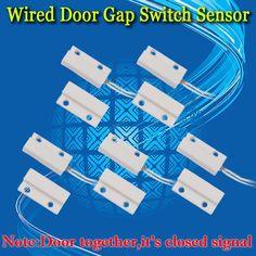 送料無料! 5ピースmc-有線ドア窓センサー磁気スイッチホーム警報システムセンサーはオープン、ノーマルオープンno