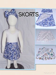 No more nappy flashing with these beautiful skorts! The look of a skirt but with the functionality of shorts! Available in limited quantities of pictured prints but you can customise this style in your choice of colours and prints! Available in sizes 0 - 4 and just $30! Matching head wraps are also available for just $10. Contact kerry@beanieboo.com.au or order from the website www.beanieboo.com.au