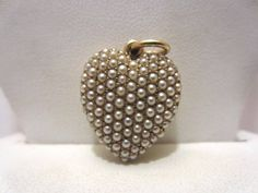 antique victorian 14k GOLD & SEED PEARLS Heart PHOTO LOCKET Pendant - 7 grams #Unbranded #Pendant