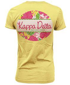Kappa Delta Lilly Inspired Pattern T-shirt