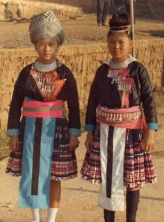"""Hmong girls in 1973 The government of Laos has been accused of committing genocide against that country's Hmong ethnic minority.Some Hmong groups fought as CIA-backed units on the Royalist side in the Laos civil war. After the Pathet Lao took over the country in 1975, the conflict continued in isolated pockets. In 1977, a communist newspaper promised the party would hunt down the """"American collaborators"""" and their families """"to the last root.  Interesting read...."""