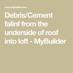 It is called back pointing,this is the original way to stop draught and dust blowing into your loft. If your roof is slated get it checked out for nail Slate Roof, Cement, Loft, Lofts, Attic Rooms, Mezzanine