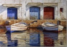 Por Amor al Arte: Los Paisajes mediterraneos de Kiku Poch. Art Google, Painting, Ali, Google Search, Blue Bow, Paintings, Watercolors, Sculpture, Fine Art