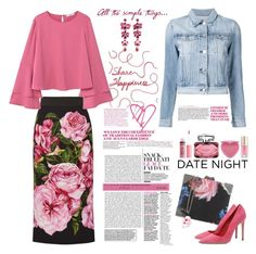 """""""Hot Date Night Style in Bloom"""" by ellie366 ❤ liked on Polyvore featuring Too Faced Cosmetics, Dolce&Gabbana, MANGO, Roberto Cavalli, 3x1, Dee Keller, Charlotte Russe, Gucci, Margaret Dabbs and Etro"""