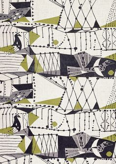 'Dovedale' furnishing fabric by John Drummond, 1953