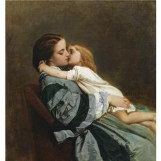Maternal Love by Auguste Toulmouche