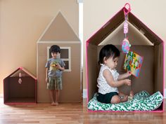 Create a cozy space for your child. All you'll need are boxes, duct tape, and a craft or utility knife.