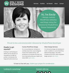 Female designer / developer website