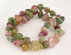 Raw Tourmaline Bracelet @Larc Jewelers #larcjewelers